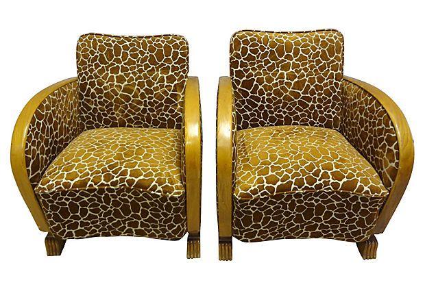 Swedish Art Deco Chairs, Pair on OneKingsLane.com