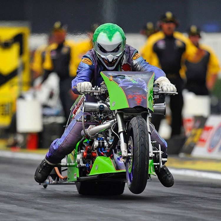 Check Out This Nhrahotshot From Pomona The Top Fuel Harleys Hit