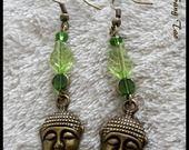 """Nouveauté jolies boucles d'oreilles """" Bouddha"""" Style ethnique chic : Boucles d'oreille par leslie-sang-tao"""