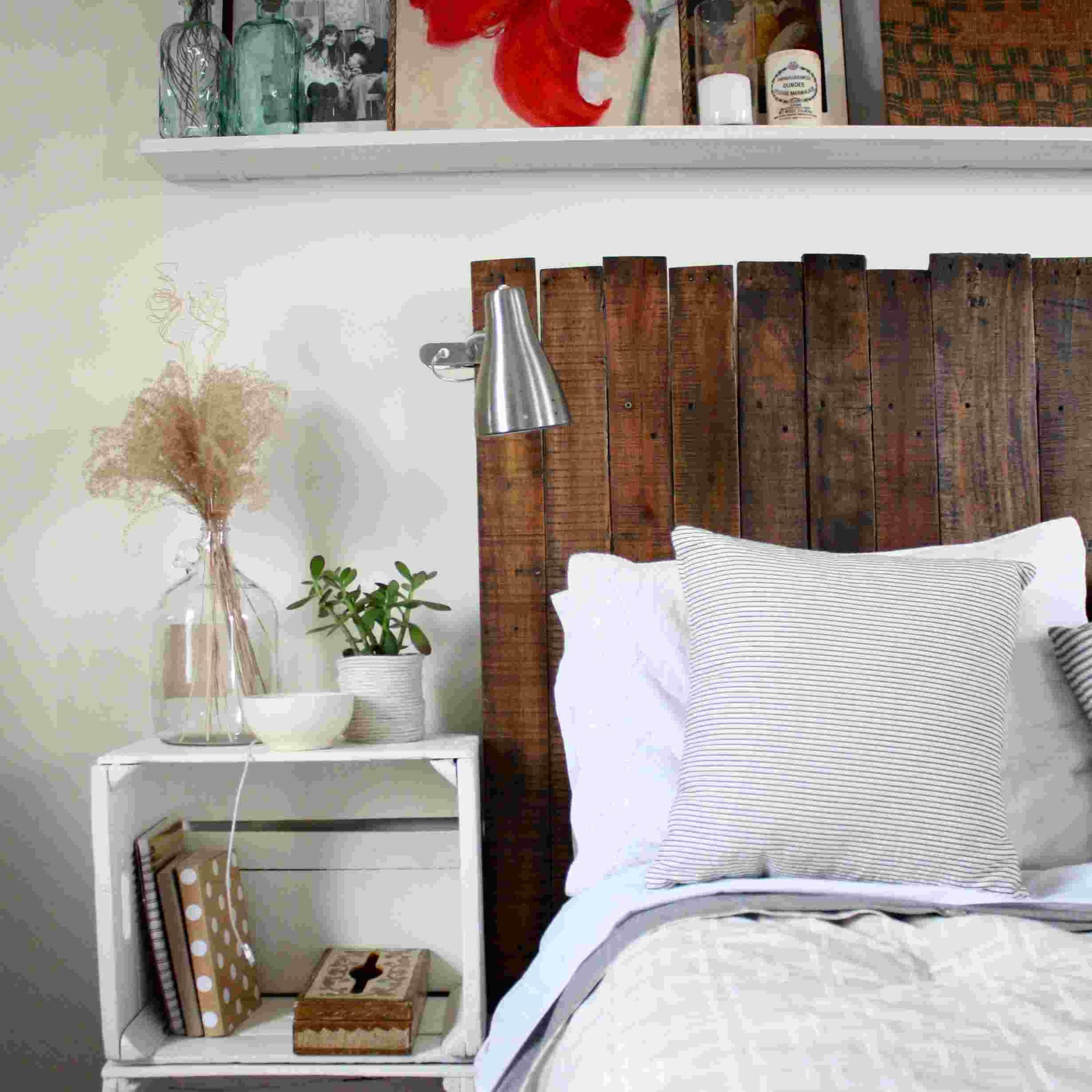 bett m bel selber machen aus den brettern ein kopfbrett bauen sch ner wohnen pinterest. Black Bedroom Furniture Sets. Home Design Ideas