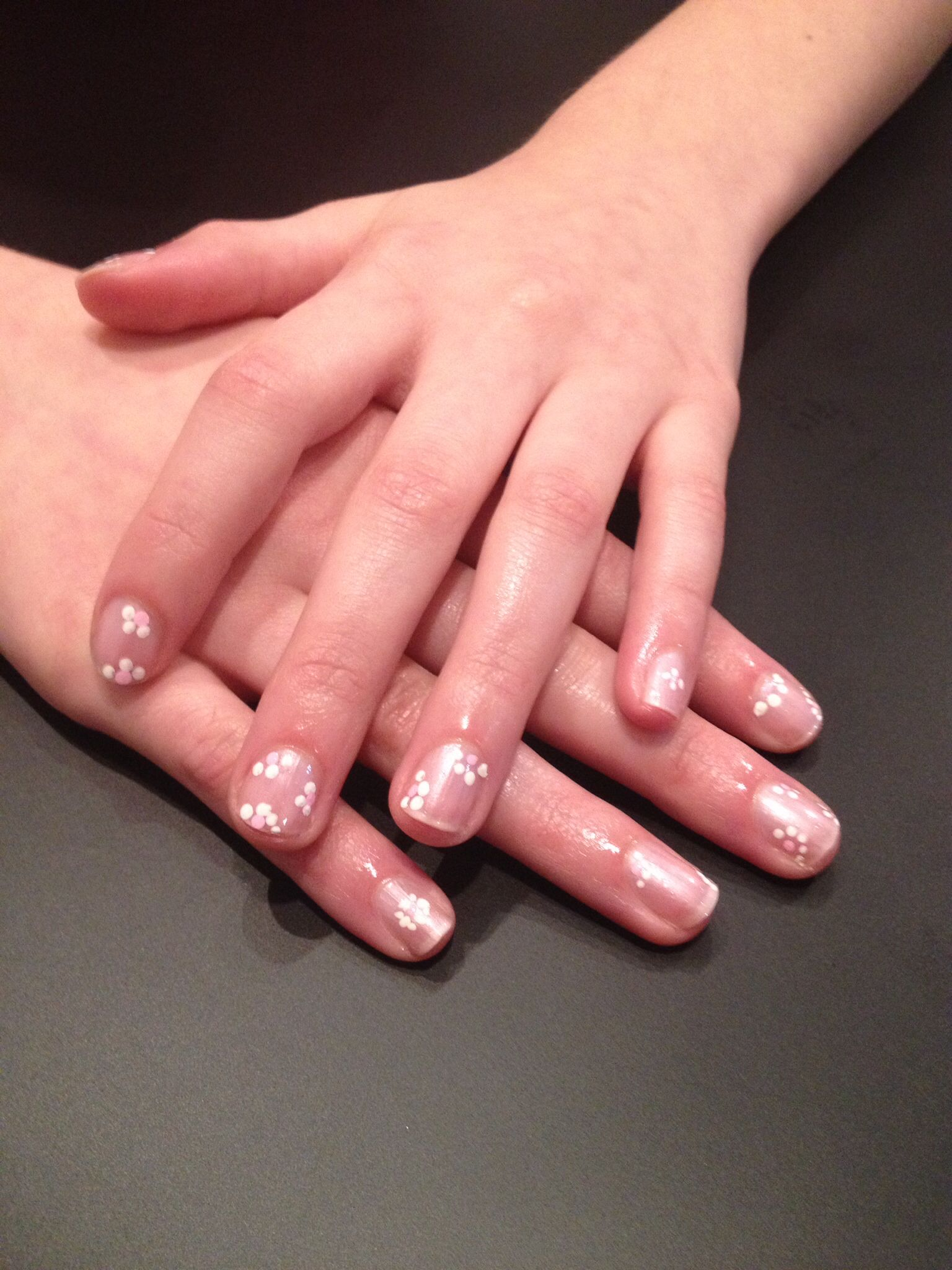 #SerenityPointeSalonandSpa-Flower Girl Nail Design