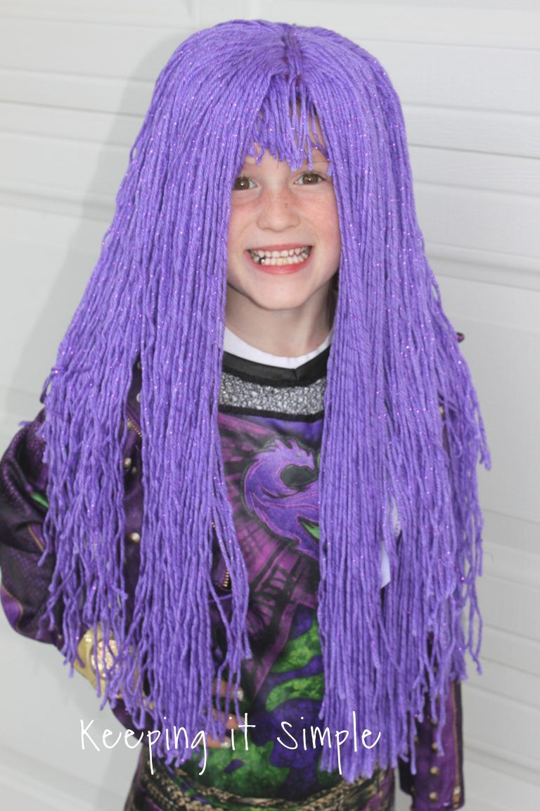 Purple Yarn Wig for Mal from Descendants 2 Costume