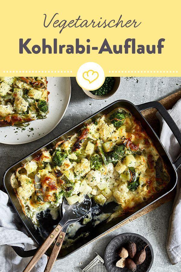 Photo of Vegetarian kohlrabi casserole with cauliflower and bechamel sauce