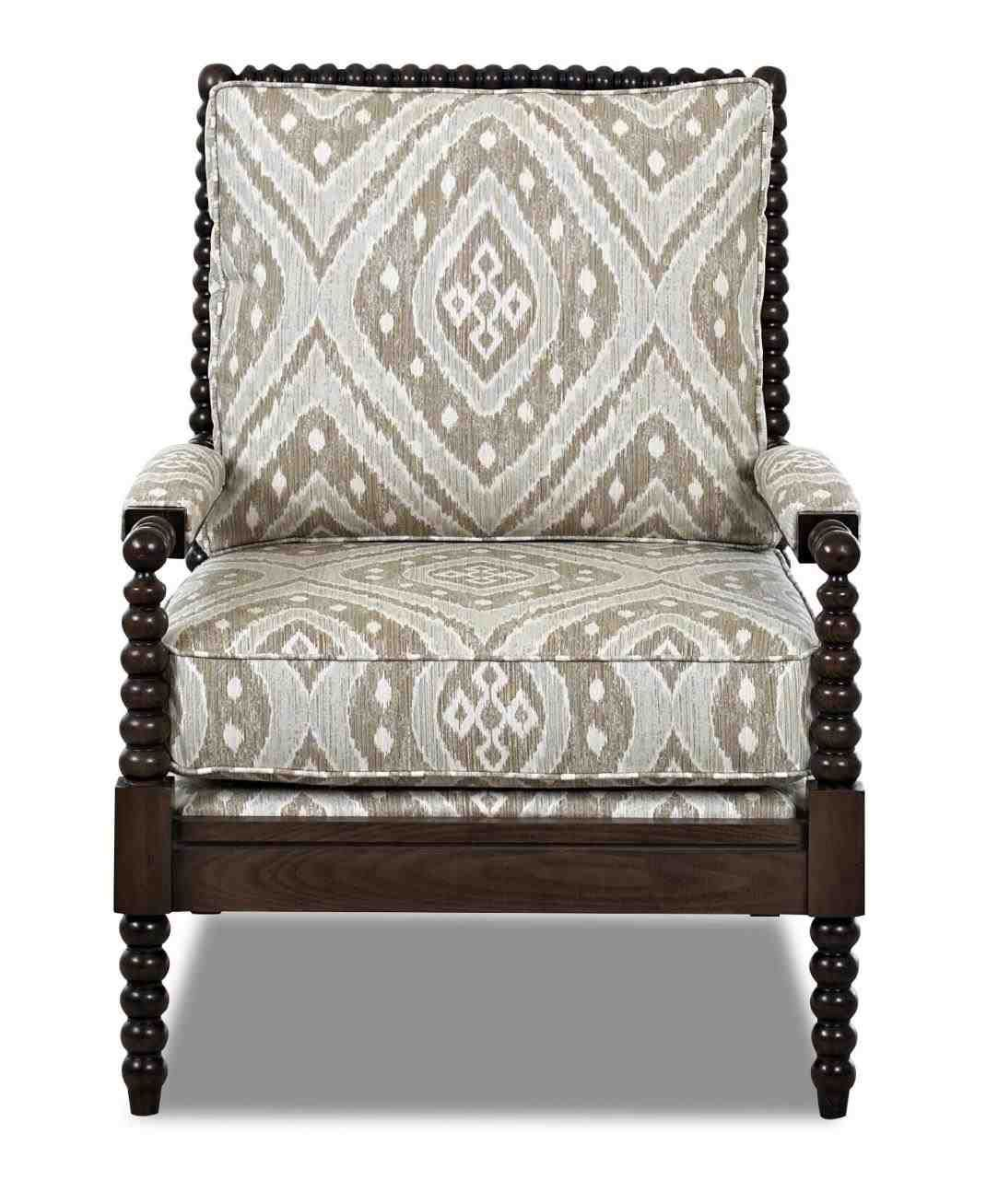 New Post Accent Chairs With Wooden Arms