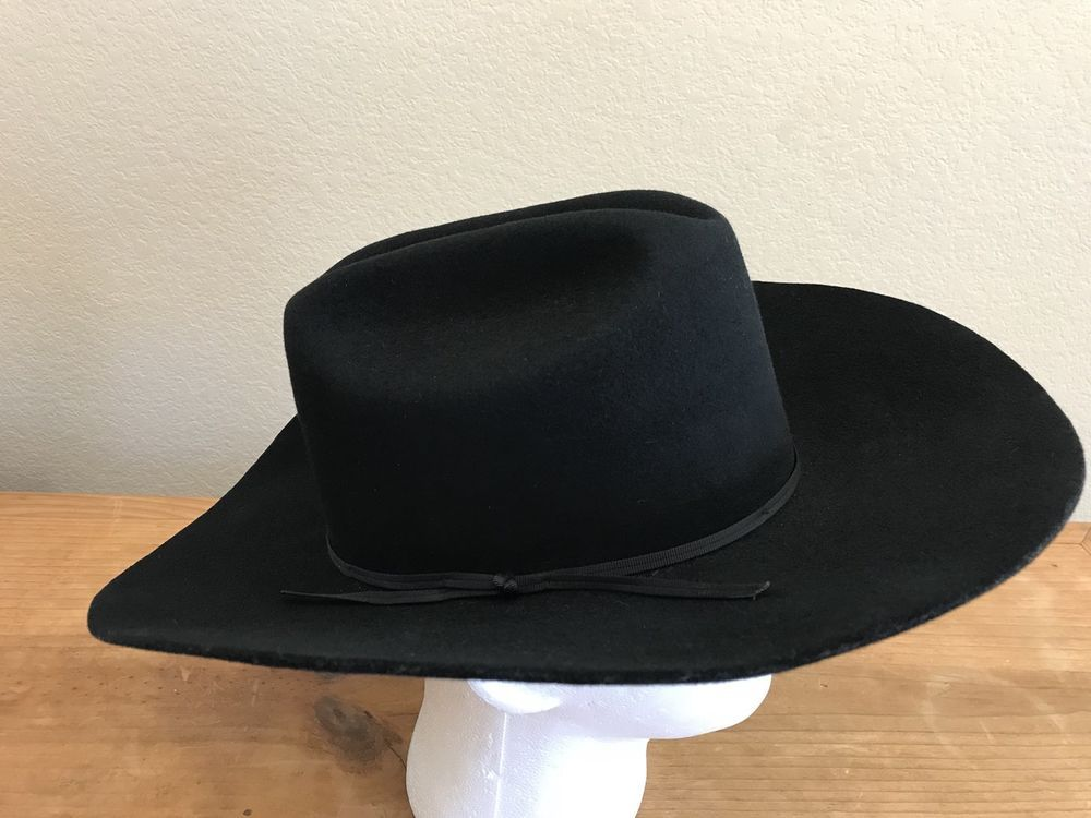 bcd17678770d9 By Milano Hat Co. Justin Authentic Western Headwear. Black Cowboy Hat.