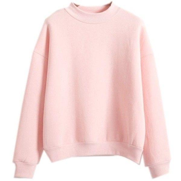 Harajuku Pastel Peach Pink Hoodies Sweatshirts for Womens (€18) ❤ liked on  Polyvore