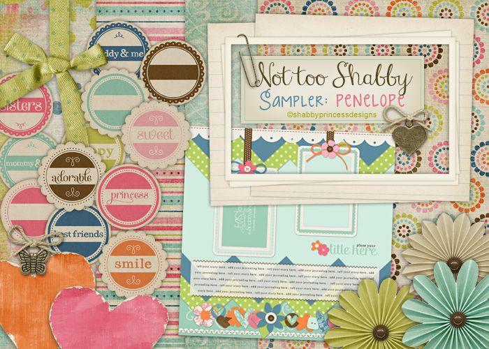 Shabby princess digital scrapbooking freebies