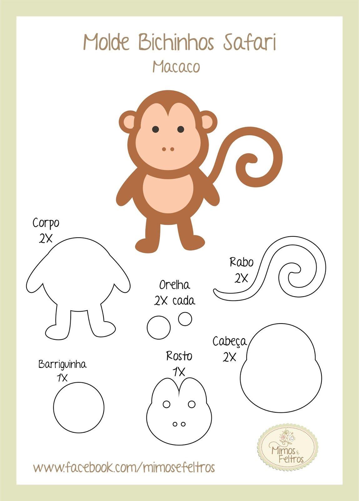CACHORRINHO CORUJINHA SAFARI | Animais de feltro, Feltro, Molde de balão