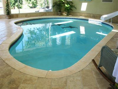 Concrete Pool Deck Coping To Complement The Travertine