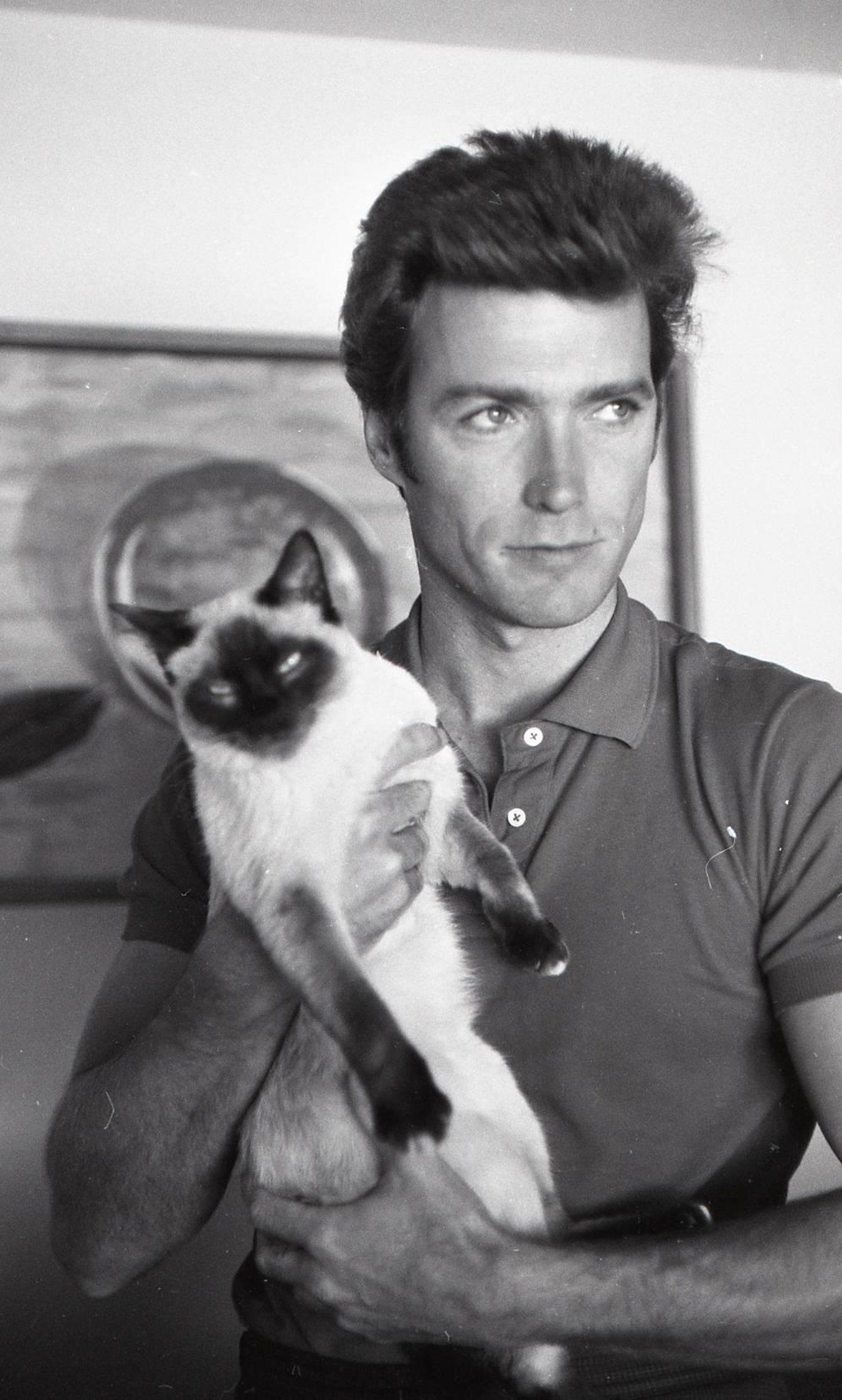 Clint Eastwood Men With Cats Celebrities With Cats Cat People