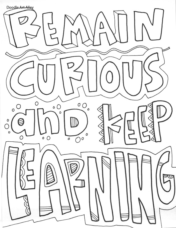 Educational Quotes Coloring Pages Classroom Doodles Quote Coloring Pages Inspirational Quotes Coloring Book Quotes