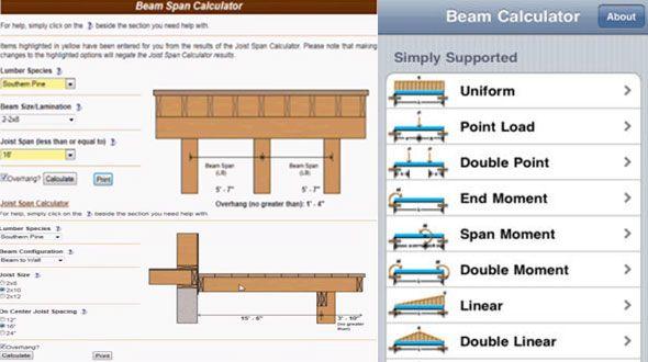 Demo of Beam Span Calculator | 3d modeling & design | Beams