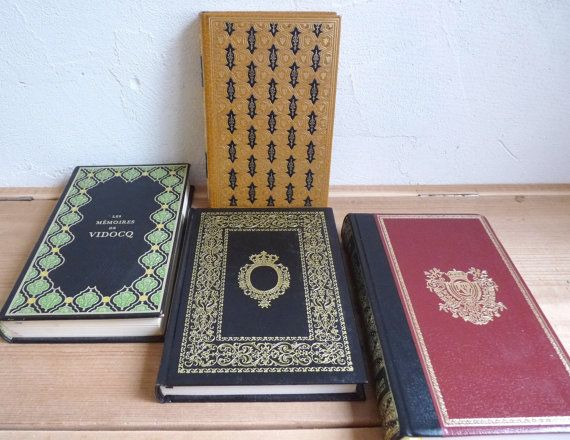 Vintage BOOK COLLECTION Black with Gold and by FrenchKlimBim