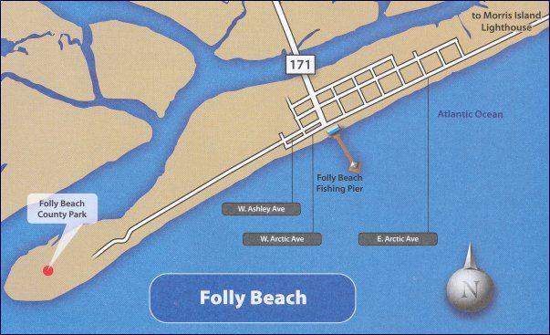 Map Of Folly Beach Sc South Carolina