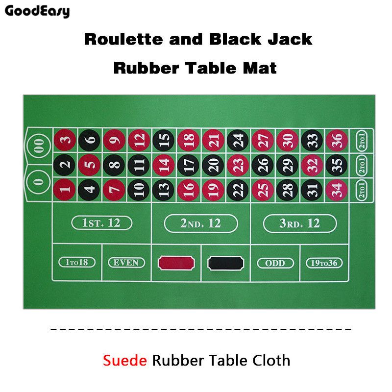 183*90Cm Suede Rubber Square Green Roulette Black Jack Poker Table Mat Poker  Gaming Table