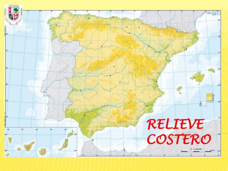 Mapa De La Peninsula.Relieve Costero De La Peninsula Iberica Map World Diagram