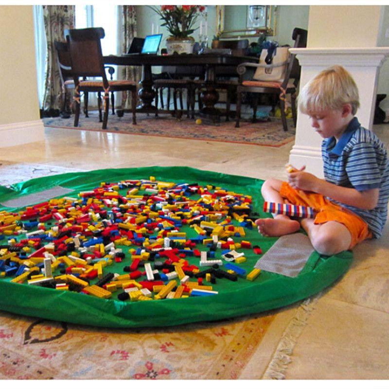 1pcs 150cm Kids Play Mat Waterproof Play Mat Multifunctional Toy Storage Bag Children Play Carpet 1 Toy Storage Bags Kids Toy Organization Kid Toy Storage