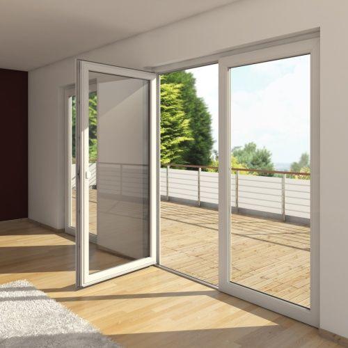schüco ofrece puertas principales para edificios y también para