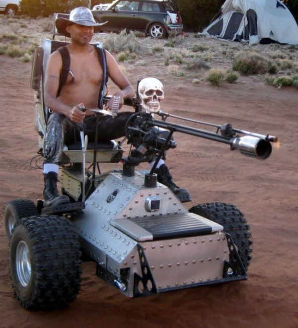 Yes, That Is a Flamethrower Equipped Mobility Scooter | Mobility ...