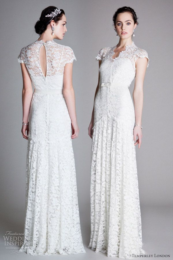 Vintage lace wedding dress 1920s | Wedding | Pinterest | Kleider