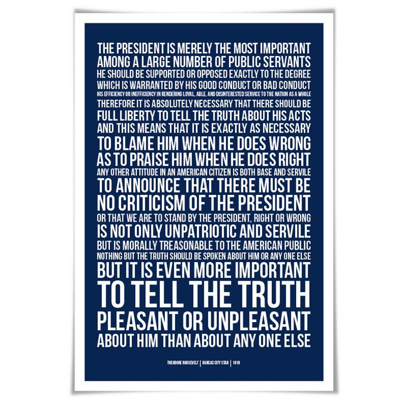 Theodore Roosevelt Presidential Criticism Essay 60 Colour 3 Size American History Patriotism Quote Loya On Book Poster Patriotic Quotes What I