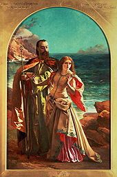 Prospero and Miranda from a painting by William Maw Egley; ca. 1850