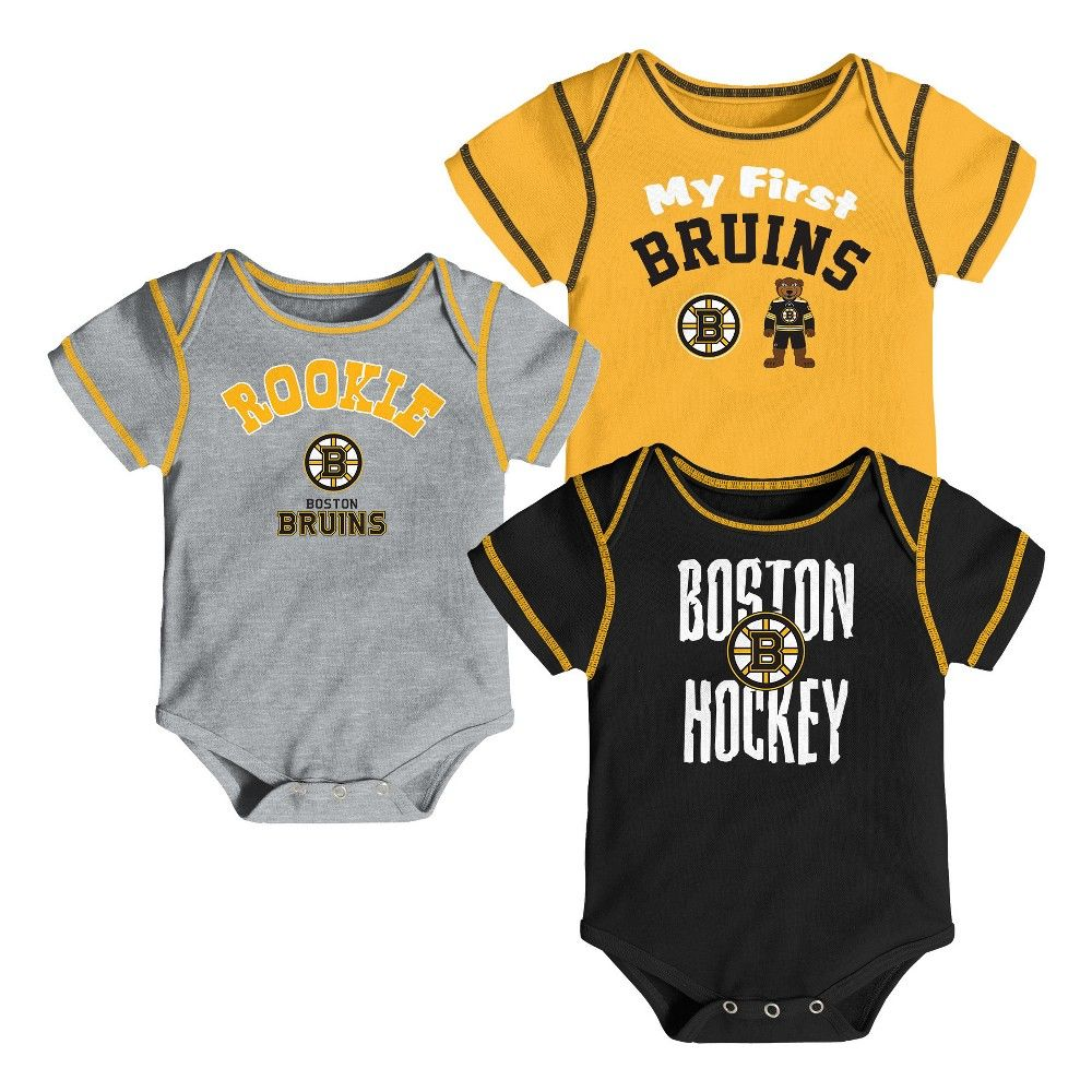 4464b2ca9 Cheer on the Boston Bruins in style with this official NHL Boys 3pk  Bodysuits. This sports apparel set makes your allegiance unmistakable with  various team ...