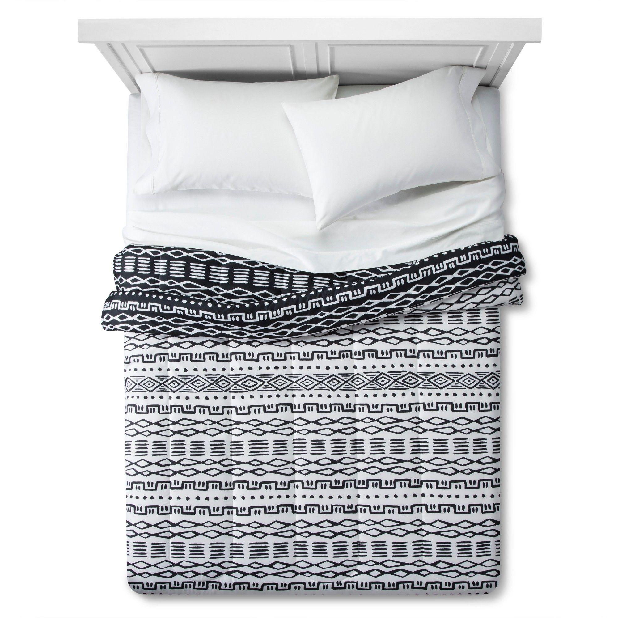 Global Line Work Comforter (Twin/Twin Extra Long) Black