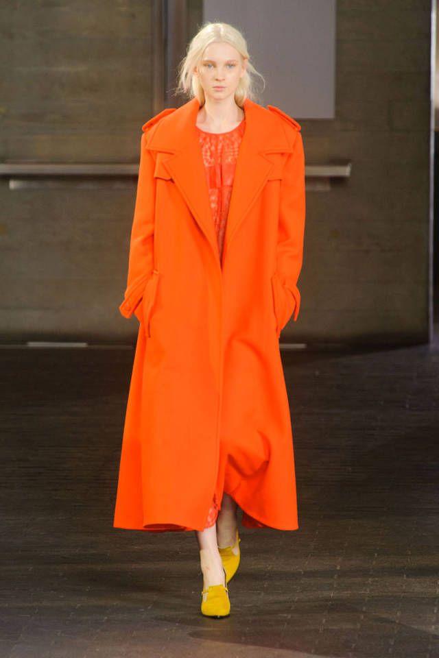 The Best Looks From London Fashion Week: Fall 2014 - Fashion, Orange fashion, 2014 fashion trends - 웹
