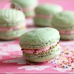 Photo recette : Macarons aux fraises et au mascarpone