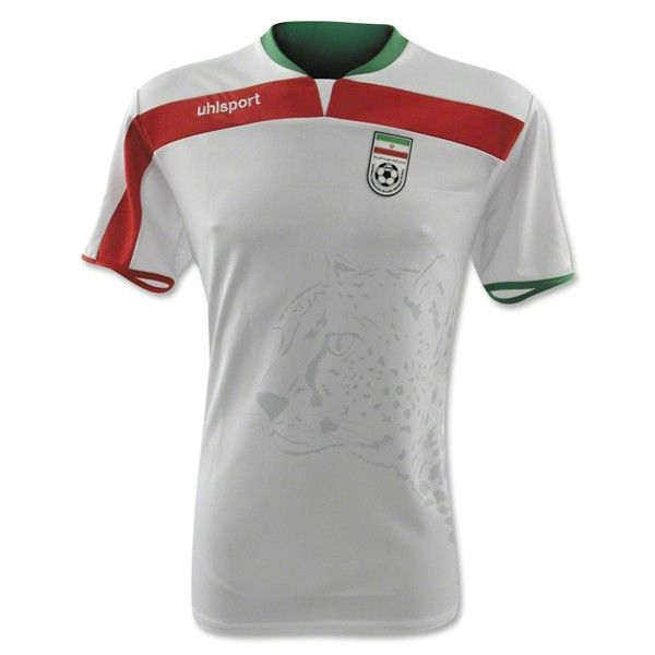 buy online 01698 f0ec7 Iran 2014 FIFA World Cup Home Soccer Men\'s Player Jersey ...