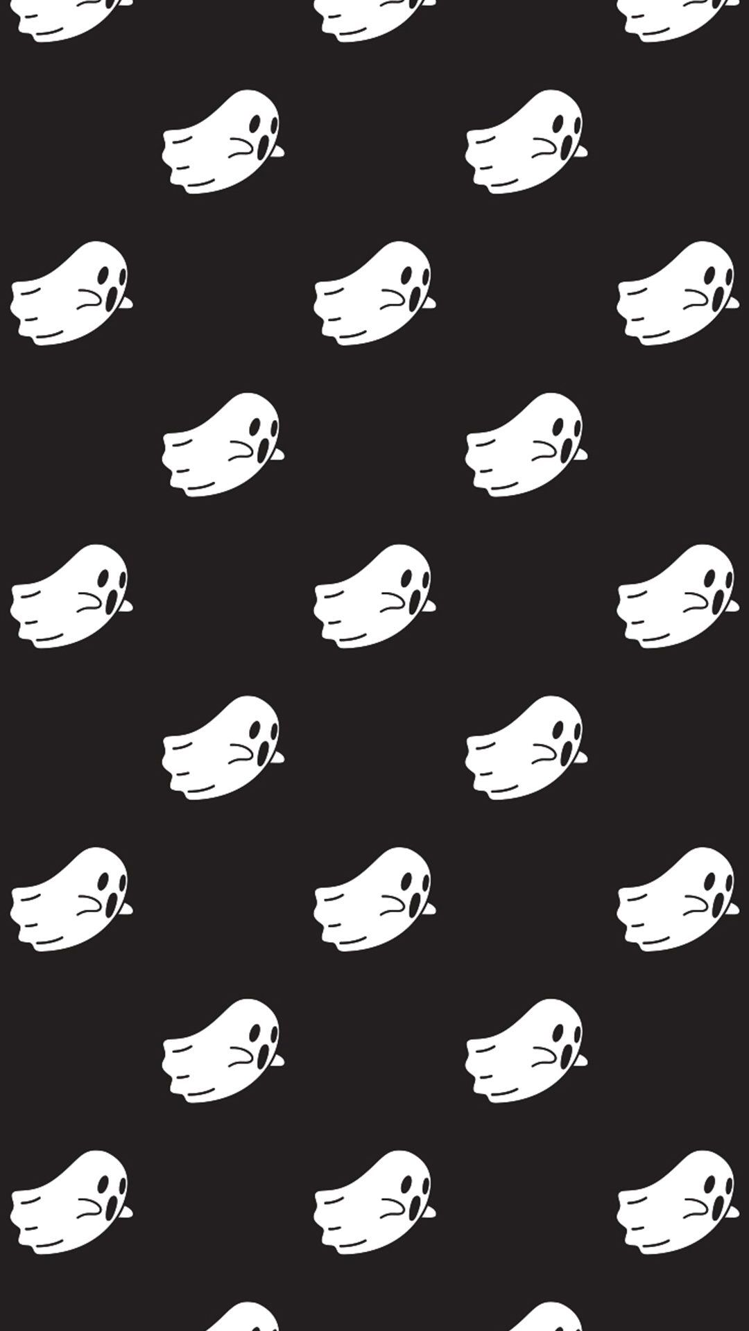cute ghost (With images) Halloween wallpaper iphone