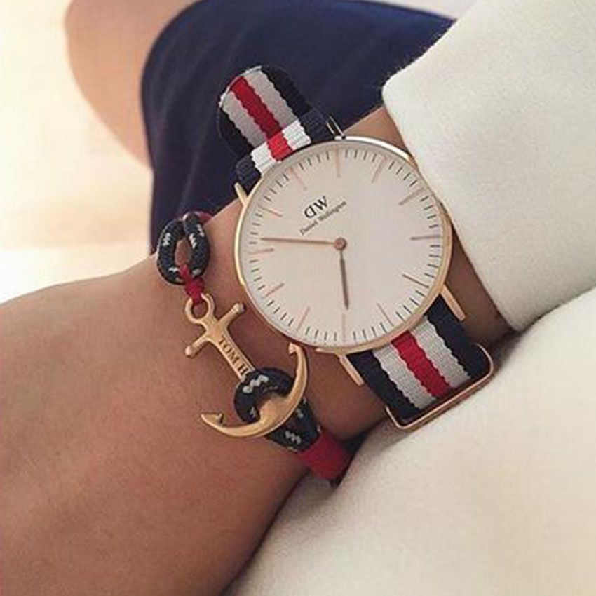 2016 New Tom Hope Anchor Bracelet pour hommes marine pulseras Bracelets  homme pulseira masculina deri bilezik