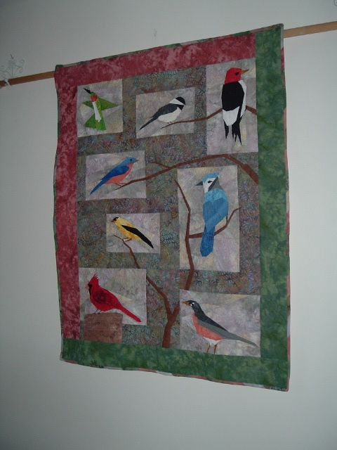 Paper Pieced Bird Quilt I Like How The Branches Bring