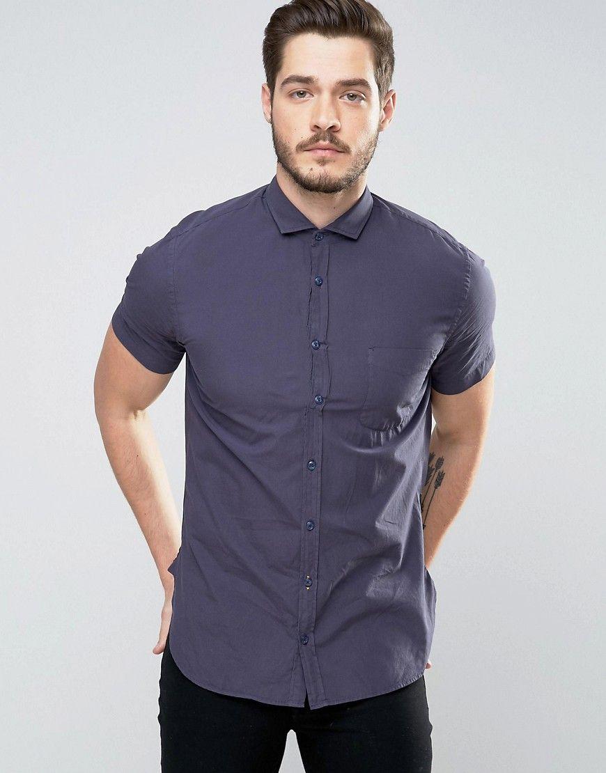 Navy Boss orange Basic shirt for men
