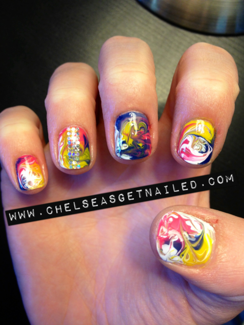 Tie Dye Nails My Style Pinterest Tie Dye Nails Nail Nail And