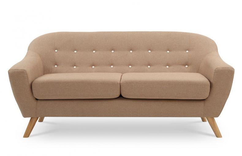 canap 3 places scandinave beige de la marque remarquable son dossier capitonn lui conf re un. Black Bedroom Furniture Sets. Home Design Ideas