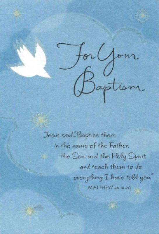 Congratulations On Your Baptism Cards | Words To Live By ...