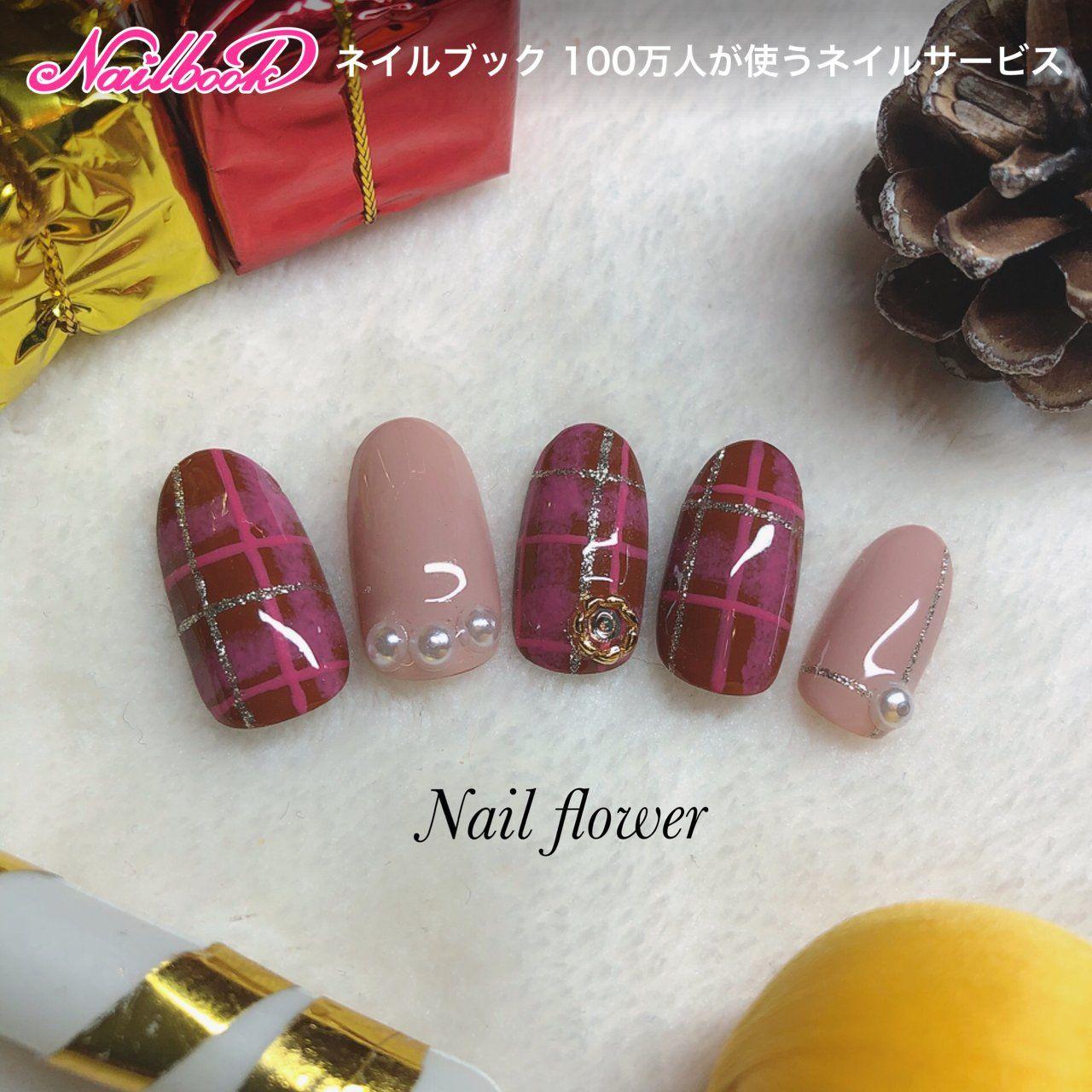 秋/冬/パーティー/女子会/ハンド , ☆nail flower☆ネイル