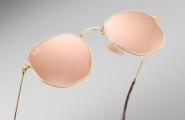 Ray-Ban 0RB3548N-HEXAGONAL FLAT LENSES Gold SUN   ACCESORIES FOR ... 3a70be033efa