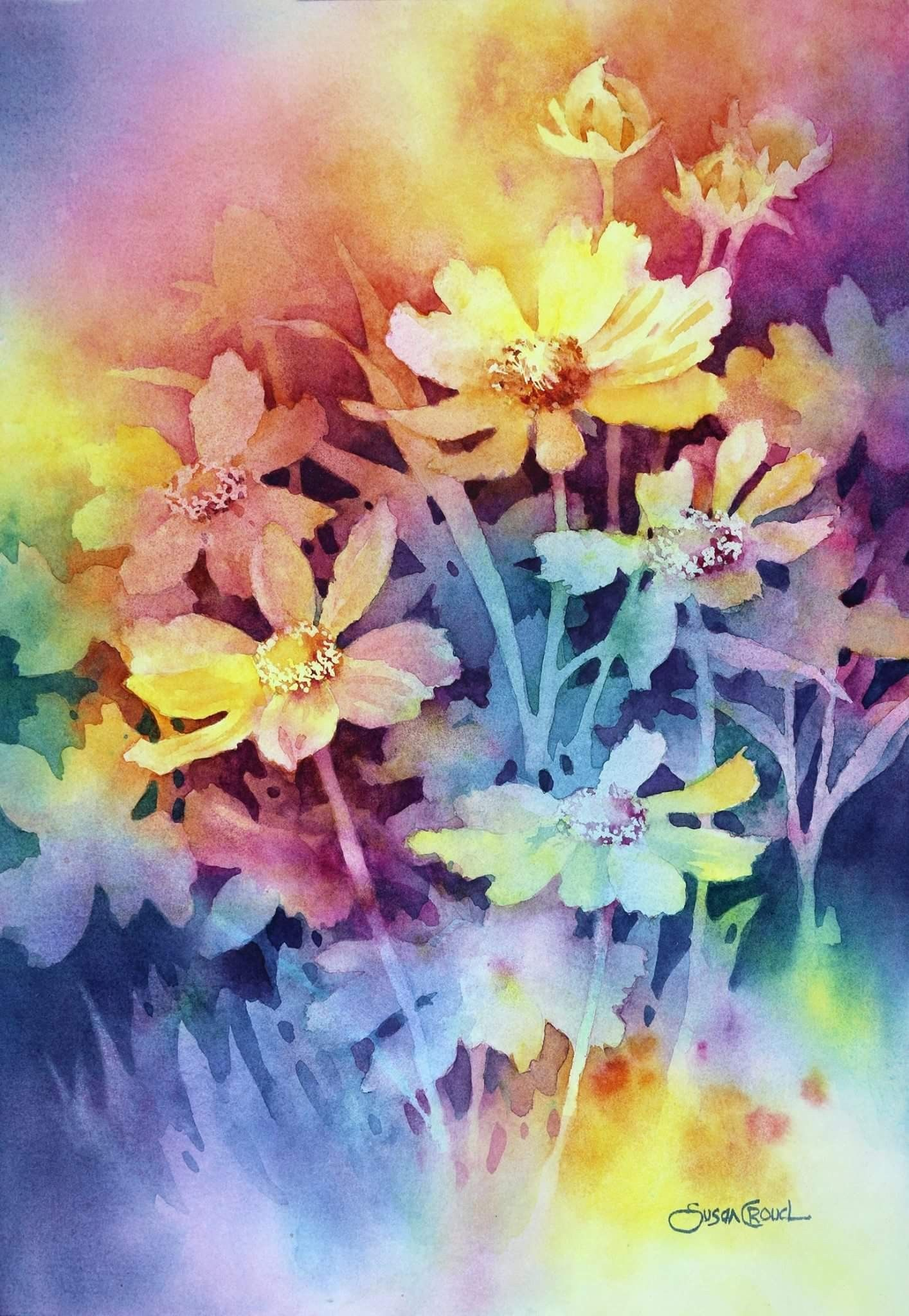 Watercolor Flowers Image By Diane Davis Flower Painting