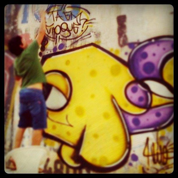 #graffiti #grafitesp #guarulhos #taemchoque #vito #streer #fish #art - @vito_tec- #webstagram