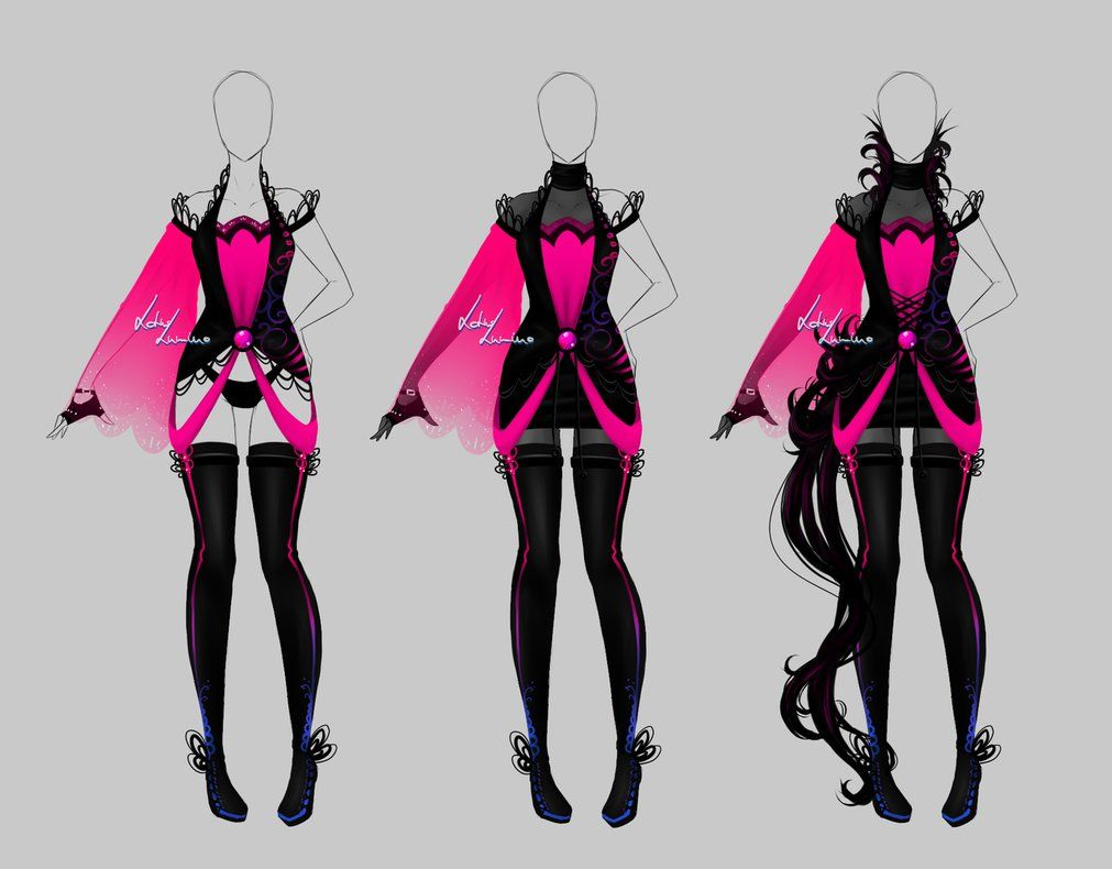 Anime Character Design Tropes : Outfit design open by lotuslumino on deviantart