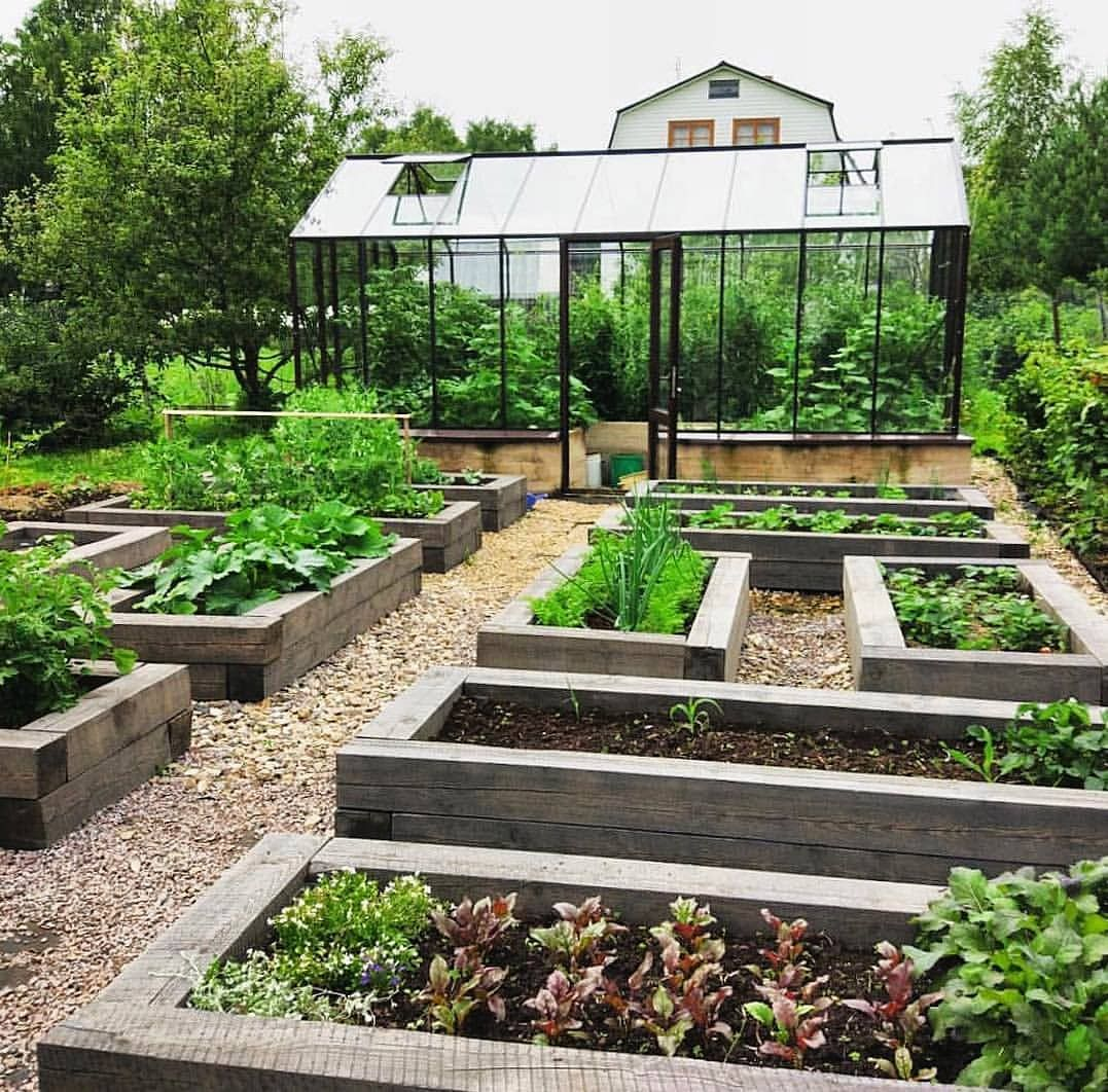20 Raised Bed Garden Designs And Beautiful Backyard: Beautiful Geometric Garden With An Interesting Layout. I
