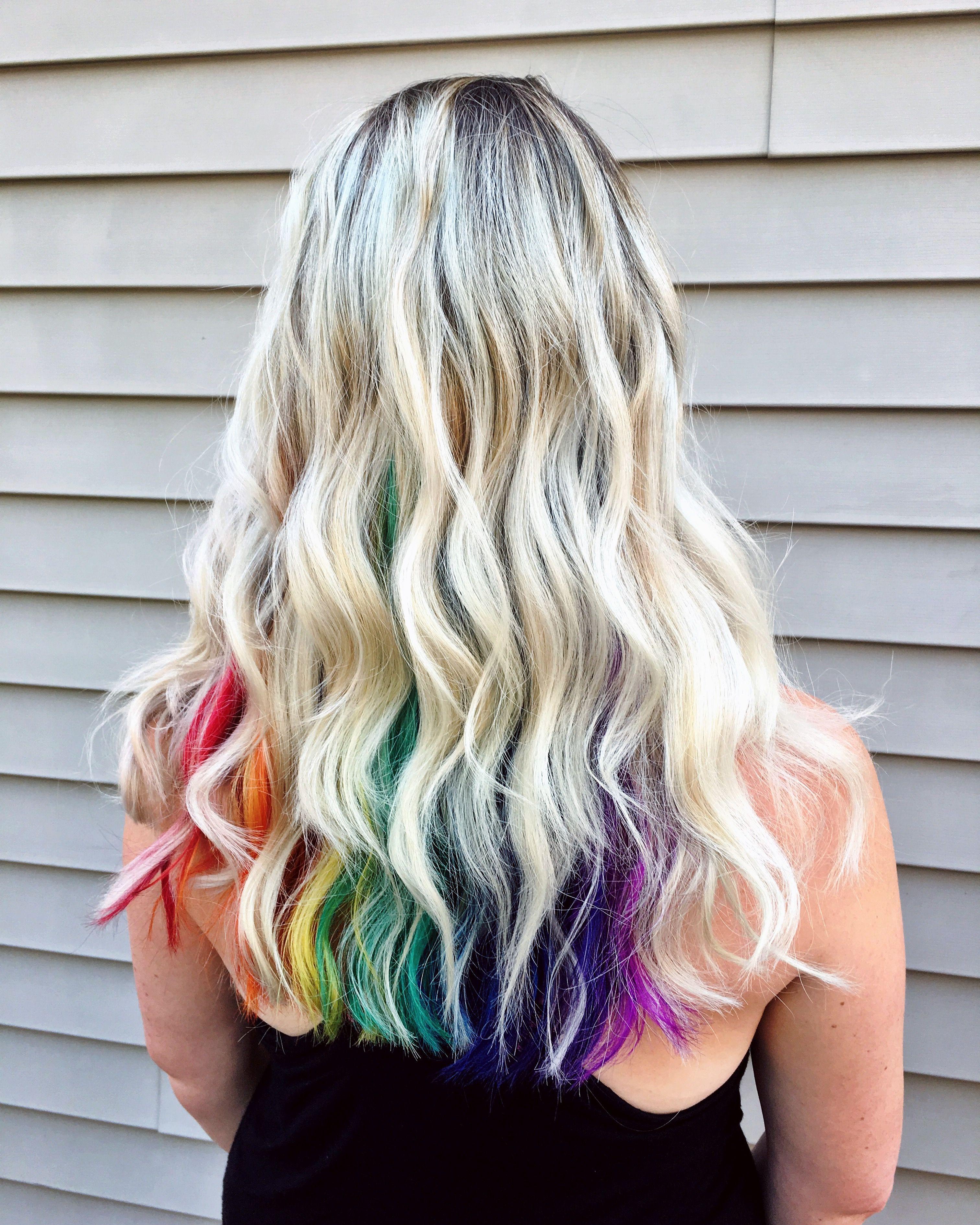 Hidden Rainbow Peekaboo Peekaboo Hair Colors Peekaboo Hair Unicorn Hair Color