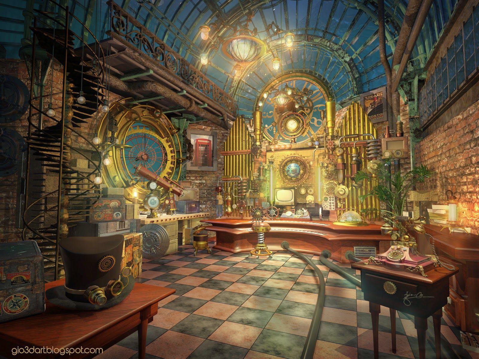 Concept Art Room Steampunk Google 検索 디자인 배경 배경화면 및 디자인