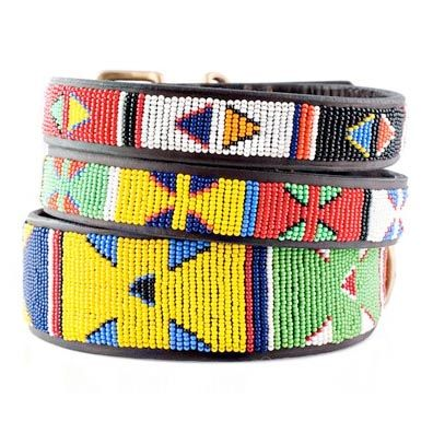 Primary Colors African Beaded Dog Collar Kenyan Collection