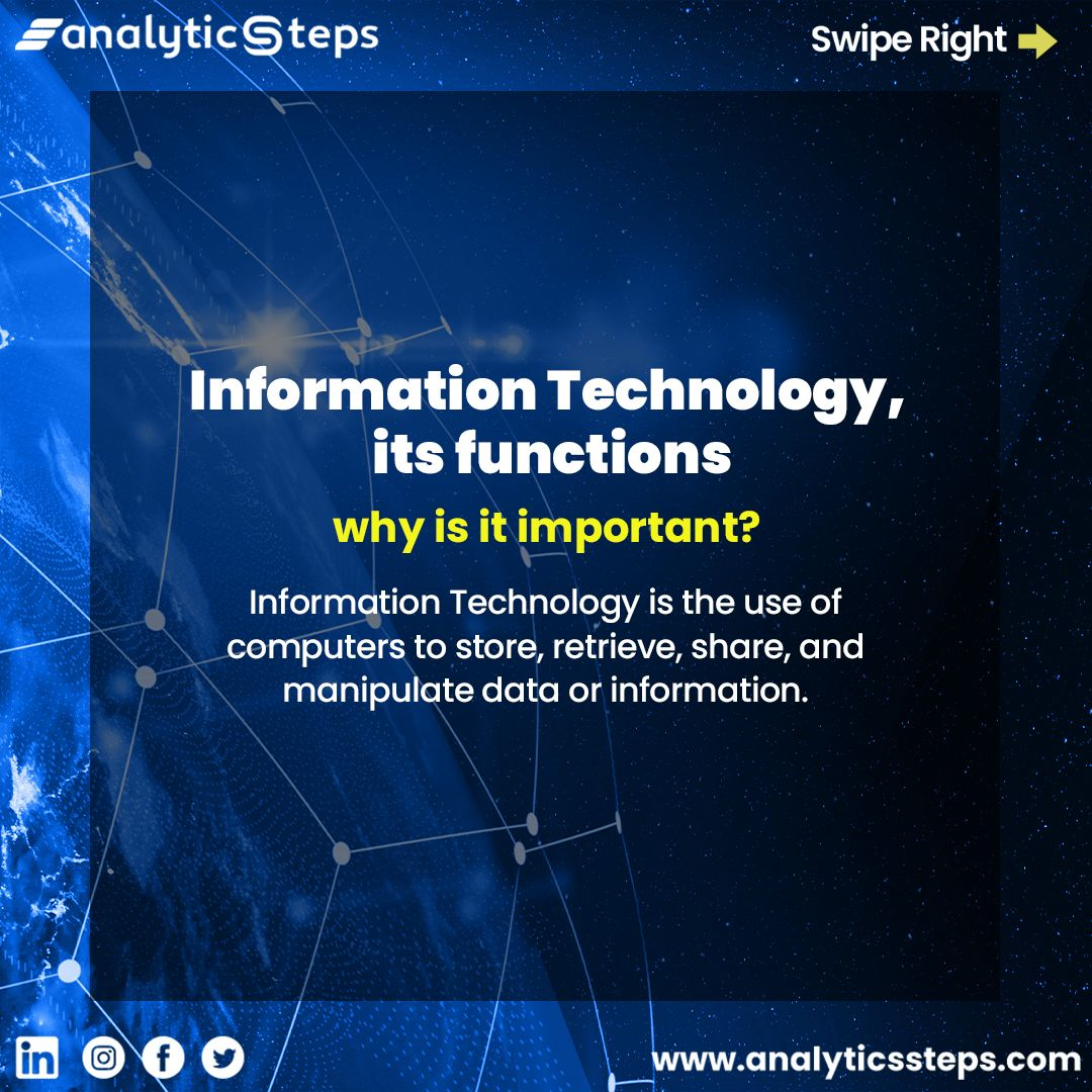 Information Technology Its Functions And Why Is It Important Information Technology What Is Information Technology