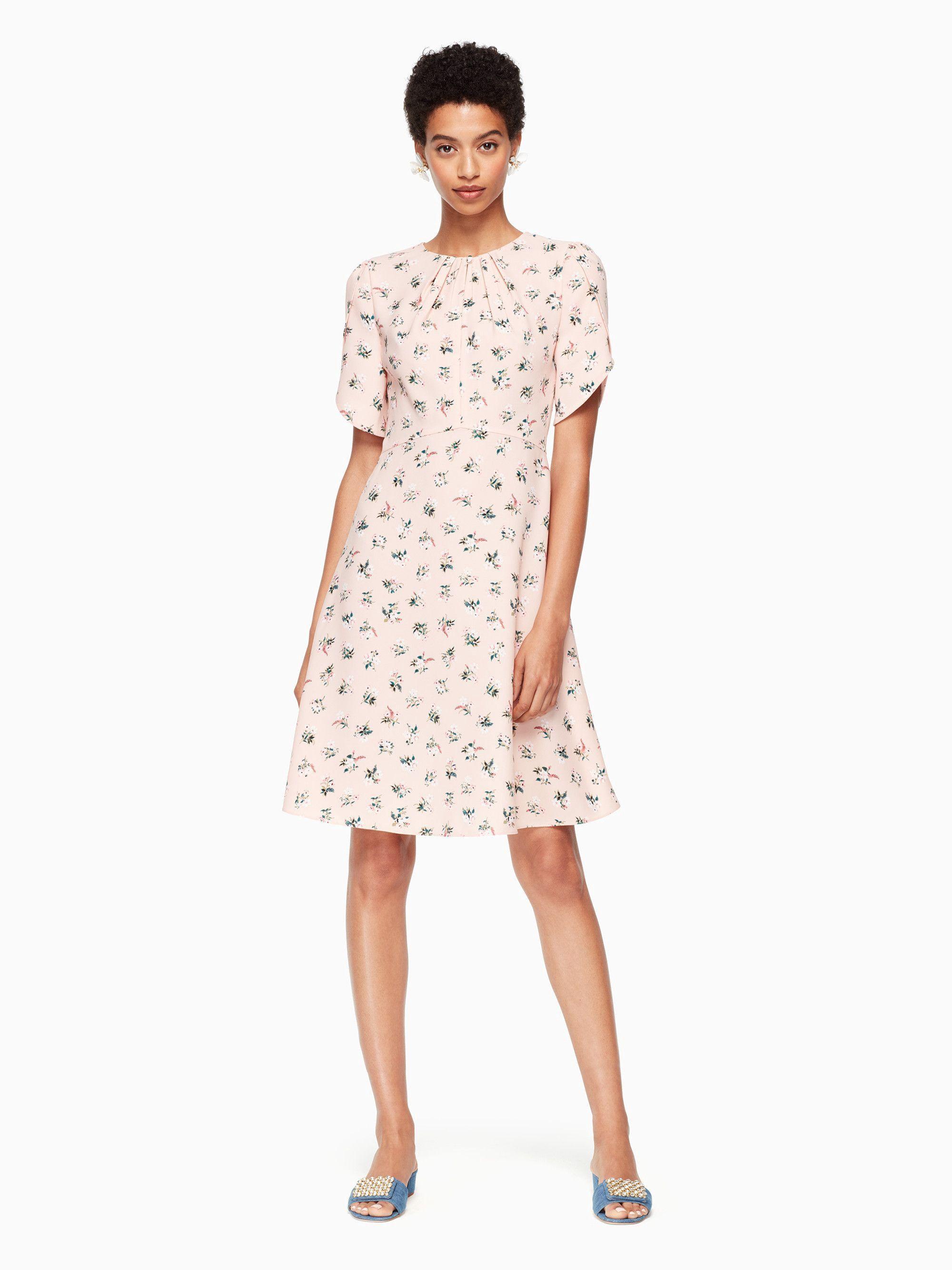 Kate Spade Flora Tulip Sleeve Dress - Black 00 Pink 5e8483c3db