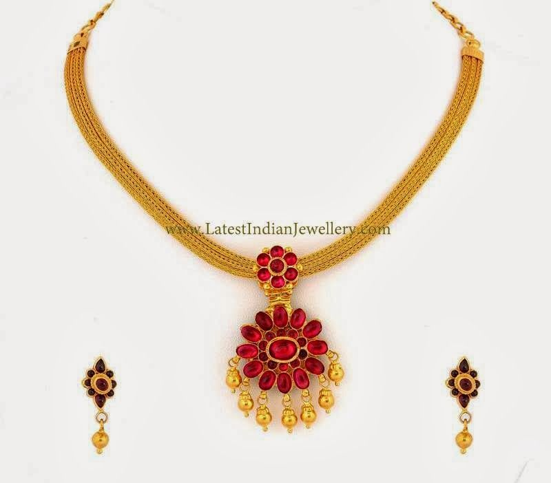 Reversible Traditional Addigai Gold Necklace Gold Jewelry Simple Mala Jewelry Gold Choker Necklace